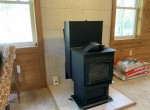 Harmon Pellet stove with extra hopper for heat.