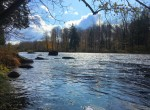 8 acres Hunting Land and Cozy Country Cottage with Riverfrontage on St. Regis River!