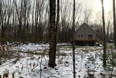15 acres Cabin on Carterville Pond Amboy NY