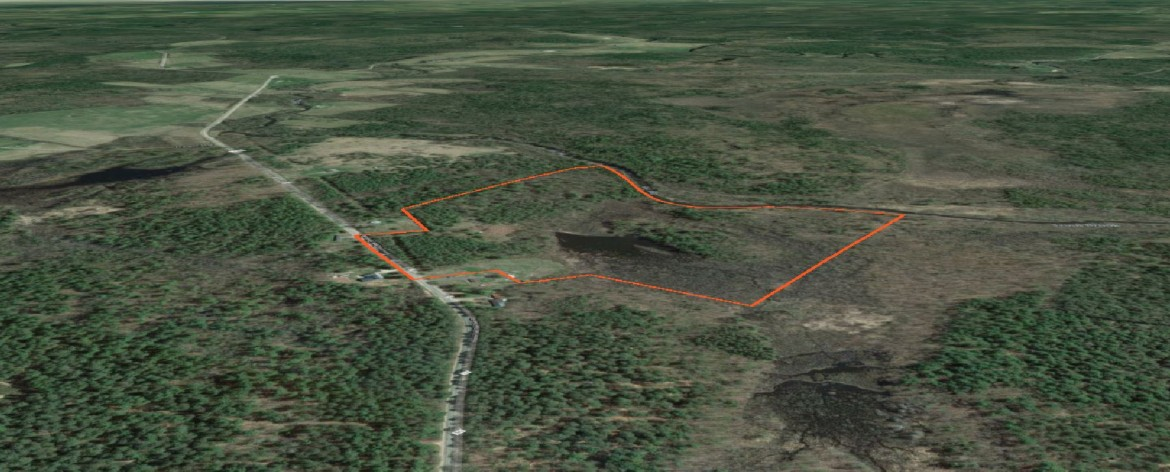 54 acre property has frontage on Trout Brook and it borders the Brasher State Forest.