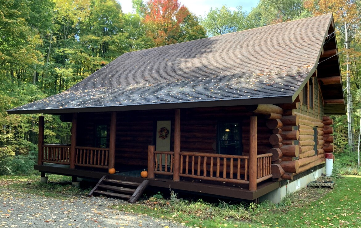 2.46 acres One of a Kind Log Home In Lee NY