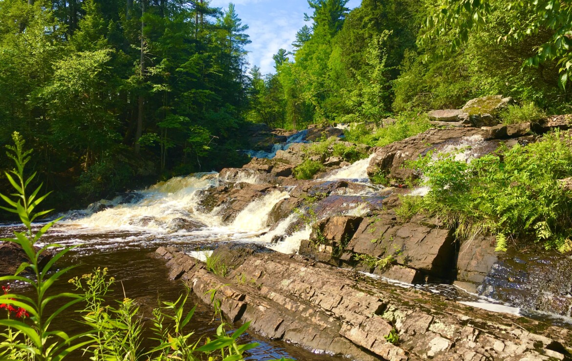 33 acres Waterfront Land for Sale with Log Cabin in Parishville, NY!