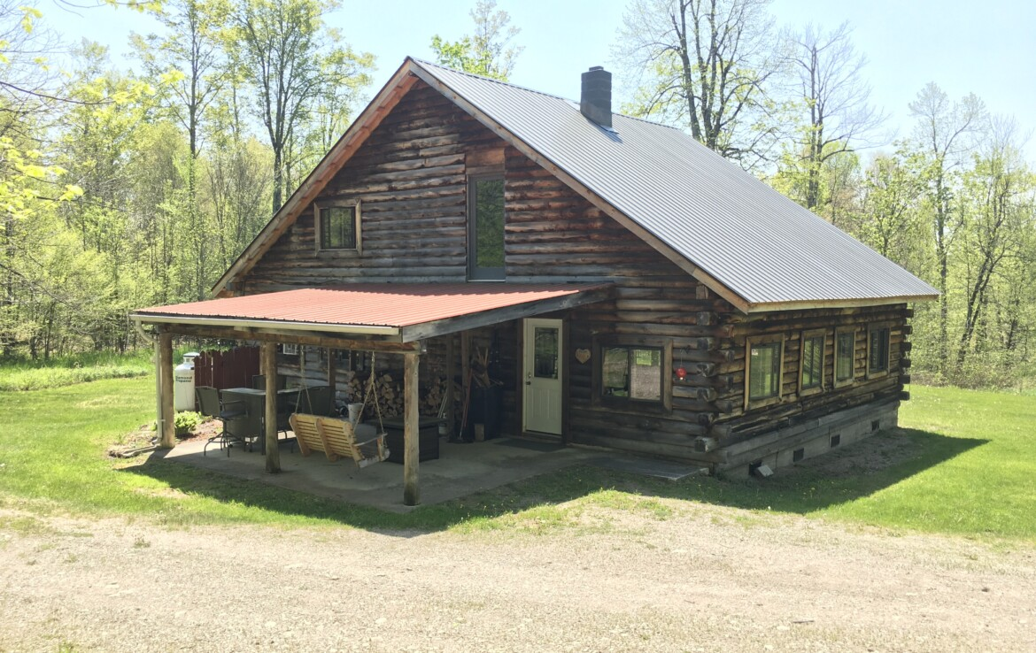 53 acres with Adirondack Log Cabin in Clare NY